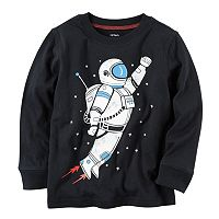 Baby Boy Carter's Long Sleeve Astronaut Graphic Tee