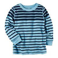Baby Boy Carter's Blue Long Sleeve Striped Tee
