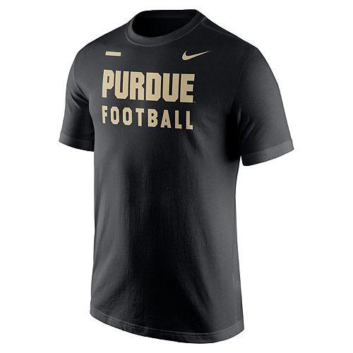 Men's Nike Purdue Boilermakers Football Facility Tee