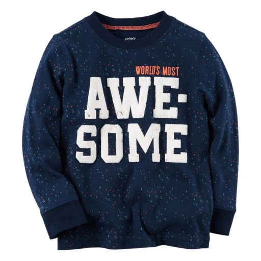 """Baby Boy Carter's """"World's Most Awesome"""" Graphic Tee"""