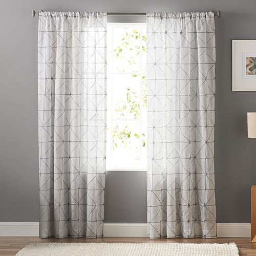 SONOMA Goods for Life™ 1-Panel Batik Embroidery Sheer Window Curtain