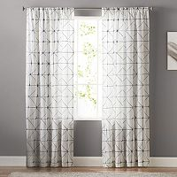 SONOMA Goods for Life™ Batik Embroidery Sheer Curtain