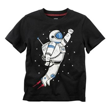 Baby Boy Carter's Short Sleeve Astronaut Graphic Tee
