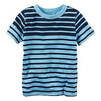 Baby Boy Carter's Blue Short Sleeve Striped Tee