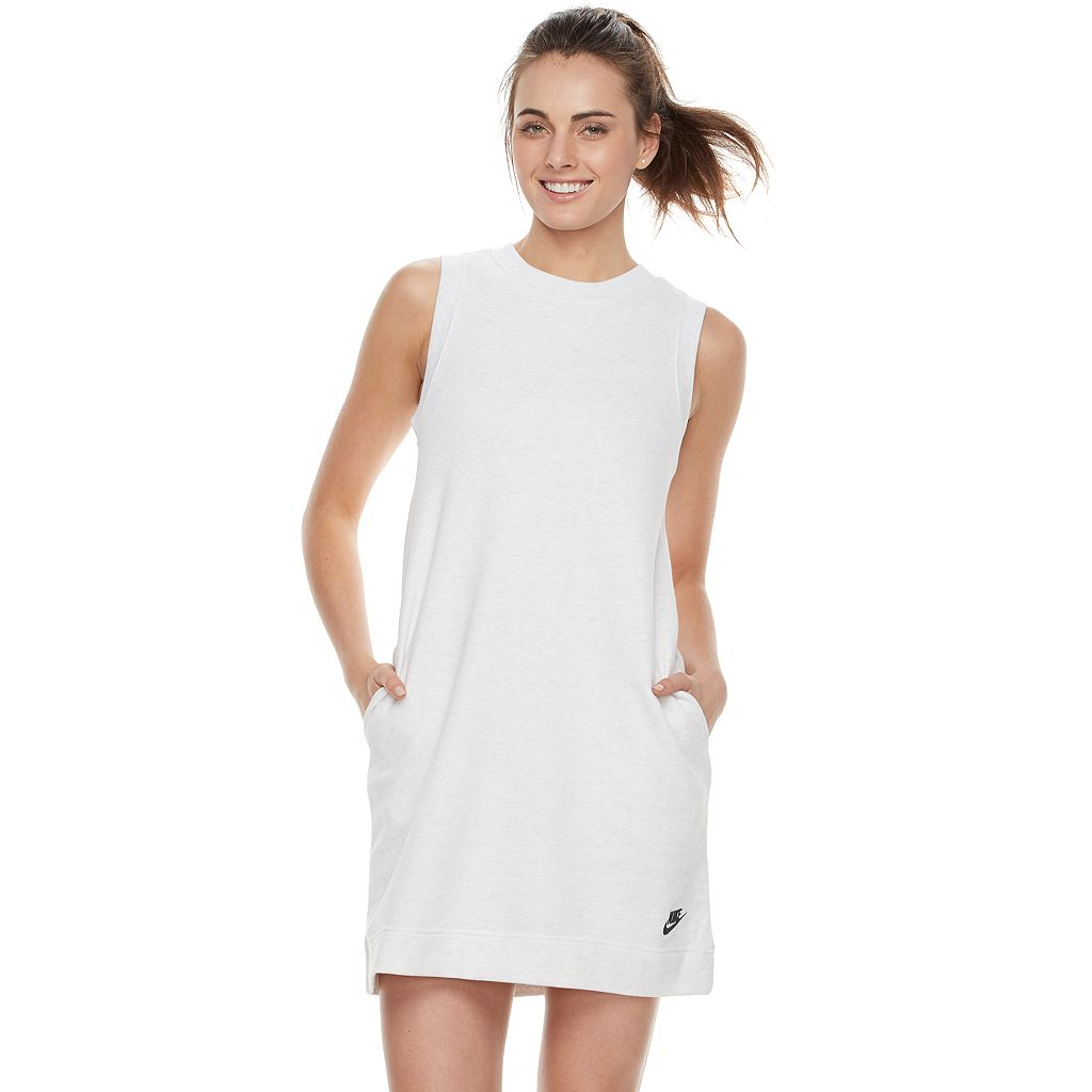 Women's Nike Sportswear Ribbed Trim Sweatshirt Dress