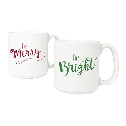 "Cathy's Concepts 2-pc. ""Be Merry, Be Bright"" Coffee Mug Set"