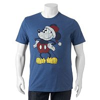 Big & Tall Disney's Mickey Mouse Santa Tee