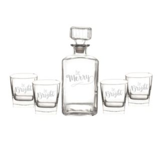 "Cathy's Concepts 5-pc. ""Be Merry, Be Bright"" Decanter Set"