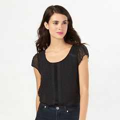 Women's LC Lauren Conrad Love, Lauren Textured Dot Top