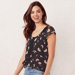 Women's LC Lauren Conrad Love, Lauren Textured Dot Top