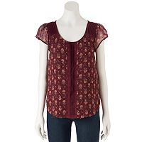 Women's LC Lauren Conrad Swiss Dot Top