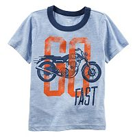 Baby Boy Carter's Motorcycle Graphic Ringer Tee