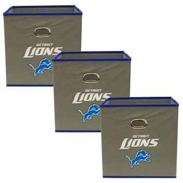 Detroit Lions 3-Pack Storeits Fabric Storage Drawers