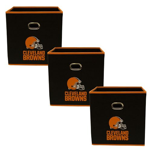 Cleveland Browns 3-Pack Storeits Fabric Storage Drawers