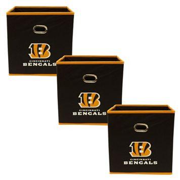 Cincinnati Bengals 3-Pack Storeits Fabric Storage Drawers
