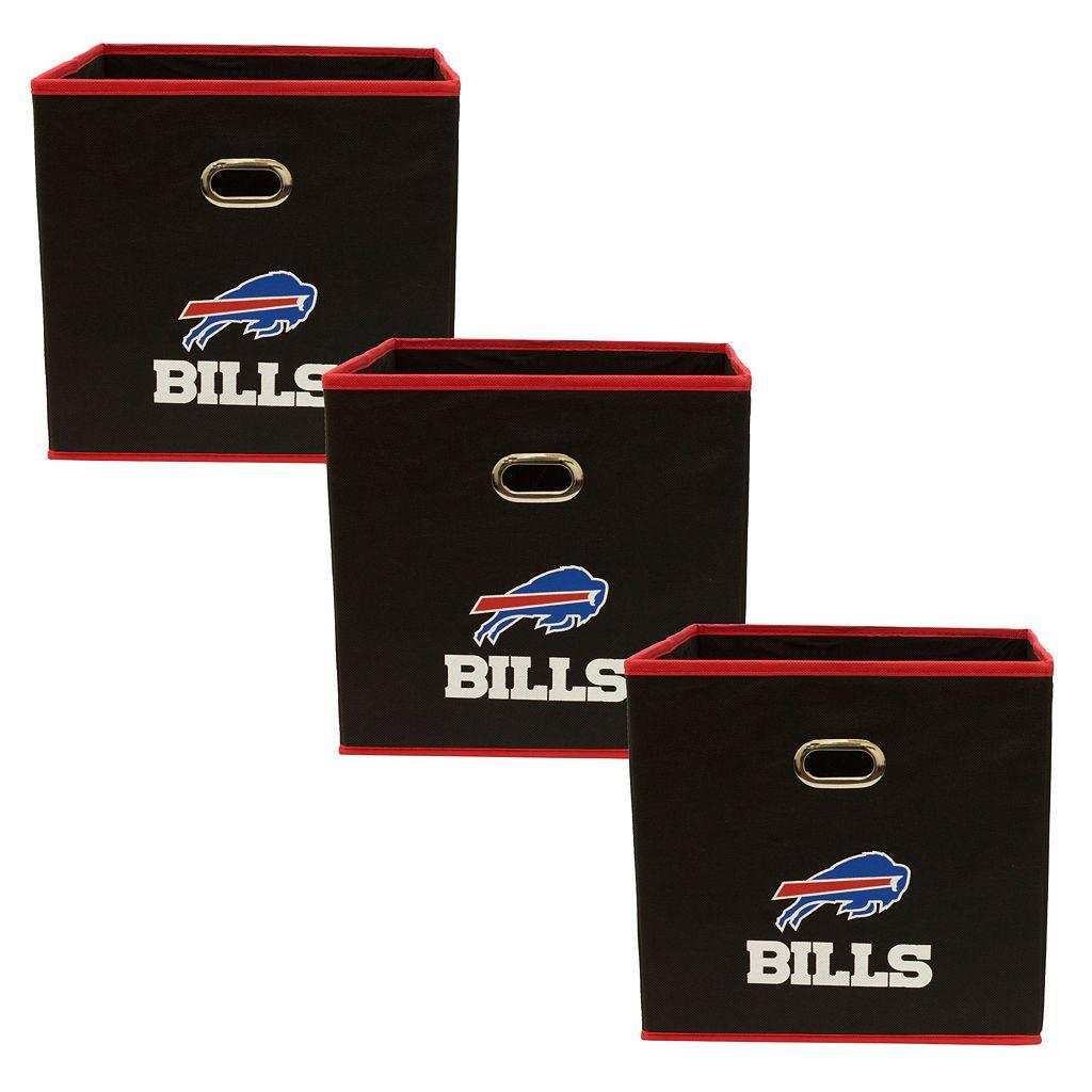 Buffalo Bills 3-Pack Storeits Fabric Storage Drawers