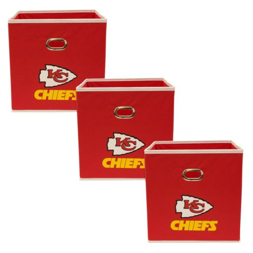 Kansas City Chiefs 3-Pack Storeits Fabric Storage Drawers