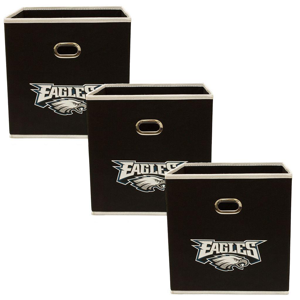 Philadelphia Eagles 3-Pack Storeits Fabric Storage Drawers