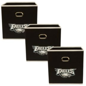 Philadelphia Eagles 3-Pack Storeits Fabric Storage Drawers