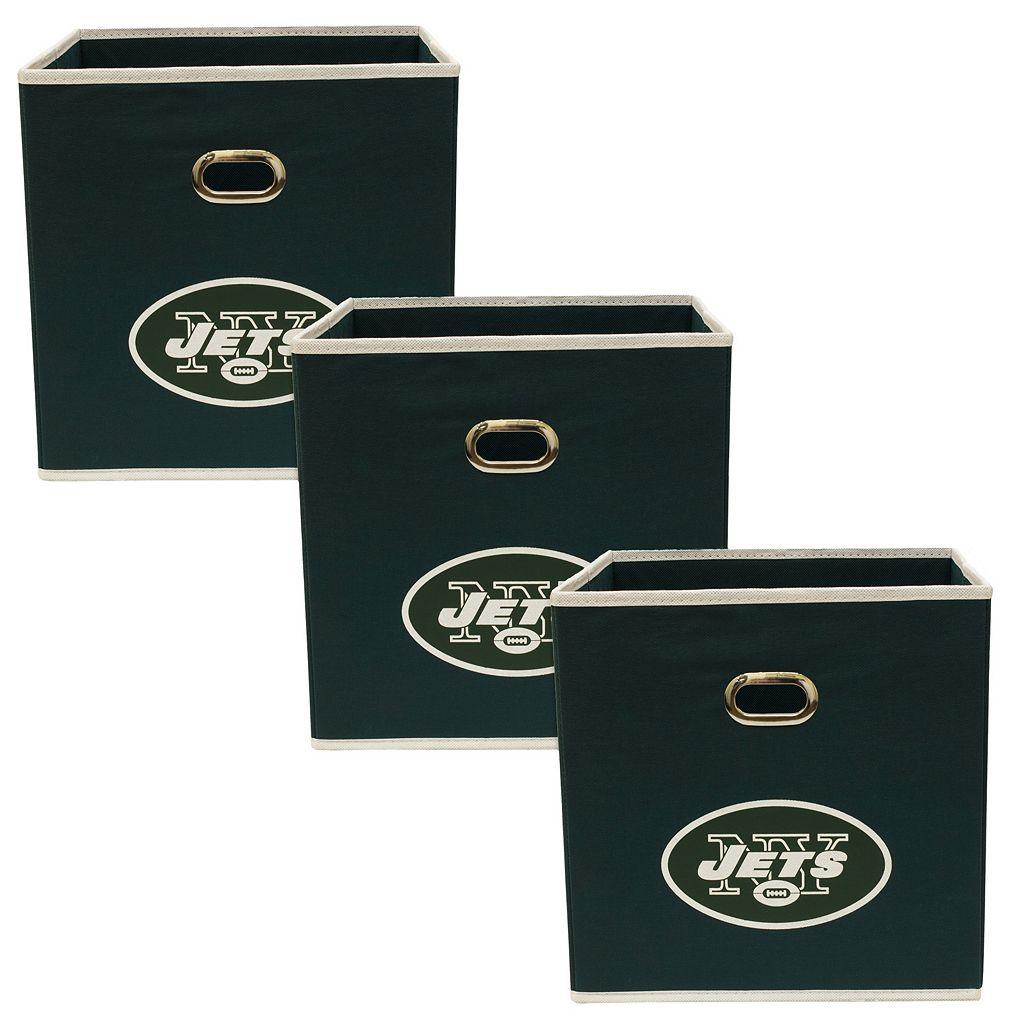 New York Jets 3-Pack Storeits Fabric Storage Drawers