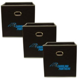 Carolina Panthers 3-Pack Storeits Fabric Storage Drawers