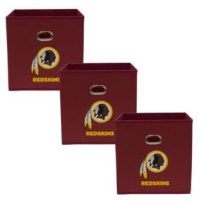 Washington Redskins 3-Pack Storeits Fabric Storage Drawers