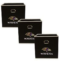 Baltimore Ravens 3-Pack Storeits Fabric Storage Drawers