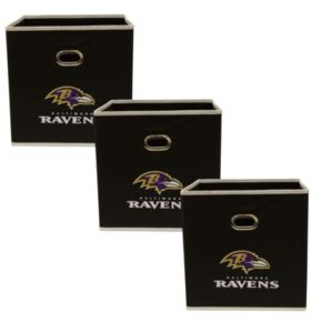 Baltimore Ravens 3-Pack Storeits Fabric Storage Drawers