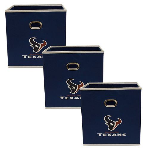 Houston Texans 3-Pack Storeits Fabric Storage Drawers