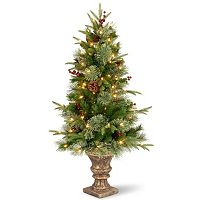 National Tree Company 4-ft. Pre-Lit Artificial Pine Colonial Porch Tree
