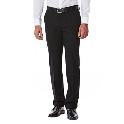 Haggar Mens Gabardine Tailored-Fit Flat-Front Suit-Separate Pant
