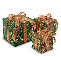 National Tree Company Christmas Gift Boxes Table Decor