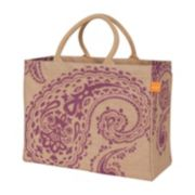 KAF HOME Paisley Jute Tote Bag