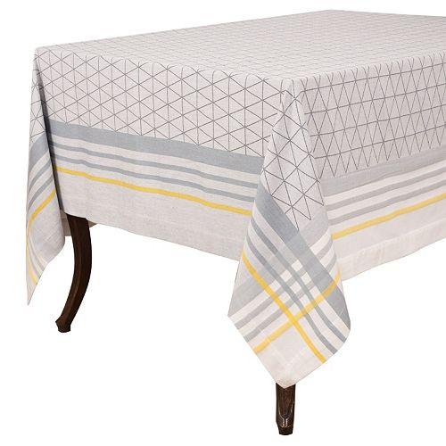 KAF HOME Broadway Triangle Jacquard Tablecloth