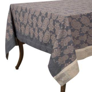 KAF HOME Paisley Jacquard Tablecloth
