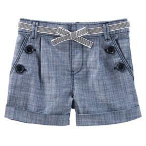 Girls 4-8 OshKosh B'gosh® Chambray Sailor Shorts