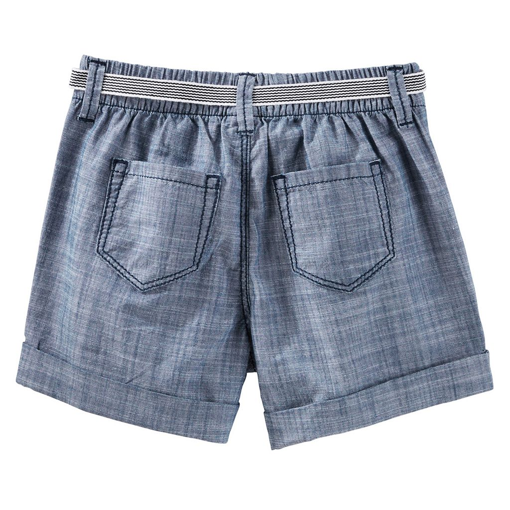 Girls 4-8 OshKosh B'gosh® Chambray Sailor Shorts