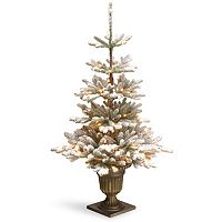 National Tree Company 4.5-ft. Pre-Lit Artificial Snowy Imperial Blue Spruce Porch Tree