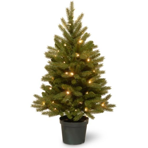National Tree Company 3-ft. Pre-Lit Artificial Jersey Fraser Fir Christmas Tree