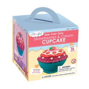 My Studio Girl Sew-Your-Own Strawberries & Cream Cupcake