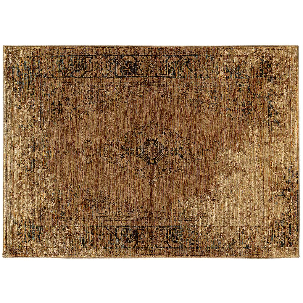 Oriental Weavers Andorra Faded Classic Framed Floral Rug
