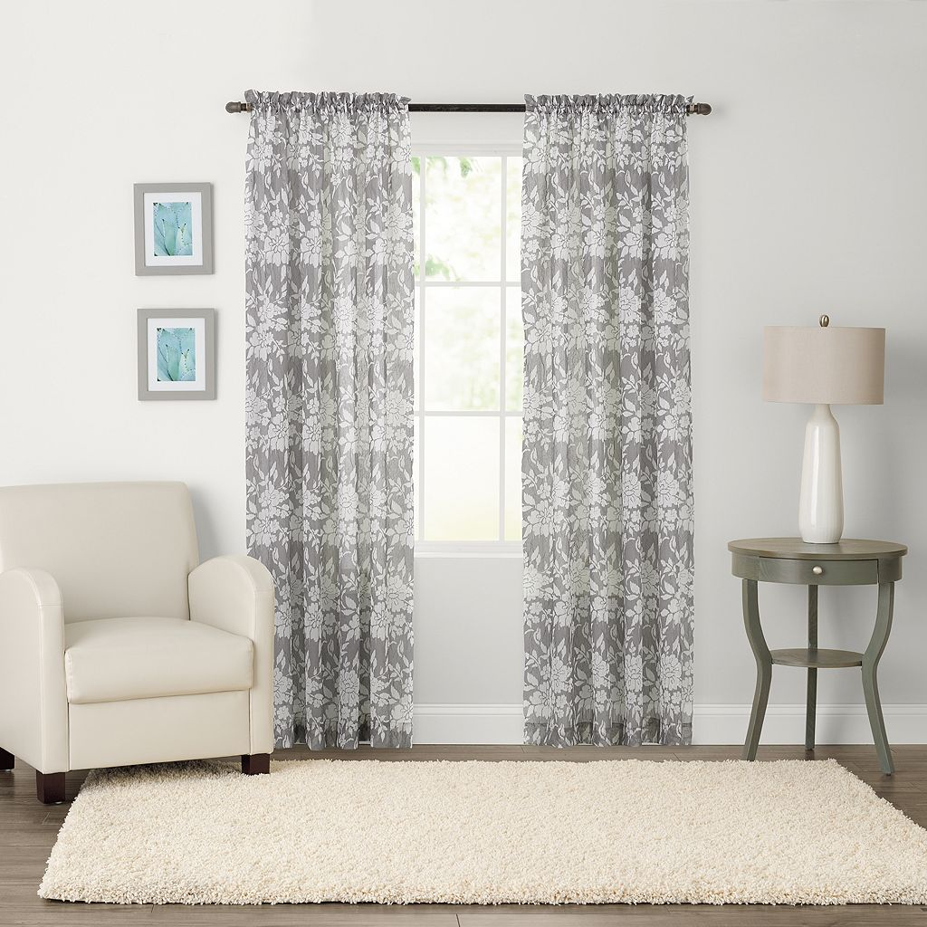 SONOMA Goods for Life™ Karina Light Filtering Crushed Voile Curtain
