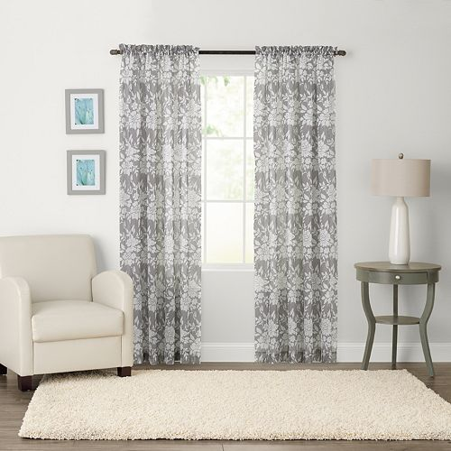 SONOMA Goods for Life™ Karina Light Filtering Crushed Voile Window Curtain