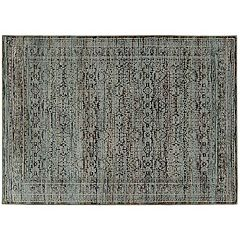 StyleHaven Alexander Antiqued Traditional Framed Floral Rug