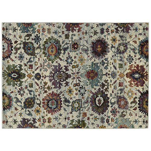 StyleHaven Alexander Updated Traditional Floral Ikat Rug