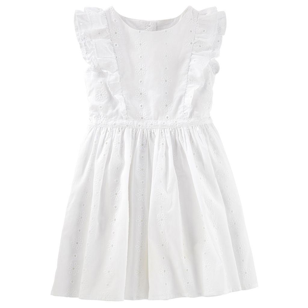 Girls 4-8 OshKosh B'gosh® White Flutter Eyelet Dress