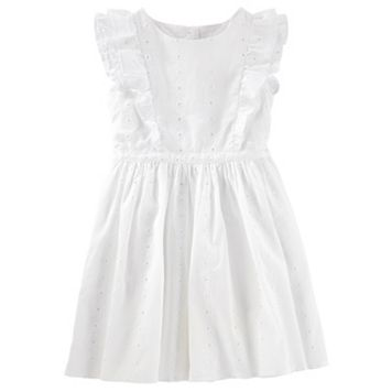 Girls 4-8 OshKosh B'gosh® White Flutter Eyelet Dress