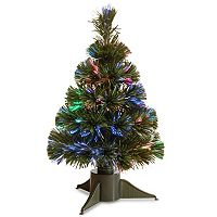 National Tree Company 18 in Fiber Optic Artificial Ice Tree