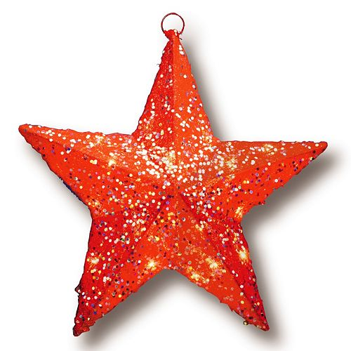 Company Solid Red Star Christmas Wall Decor