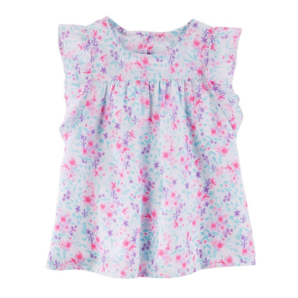 Girls 4-12 OshKosh B'gosh® Floral Woven Top